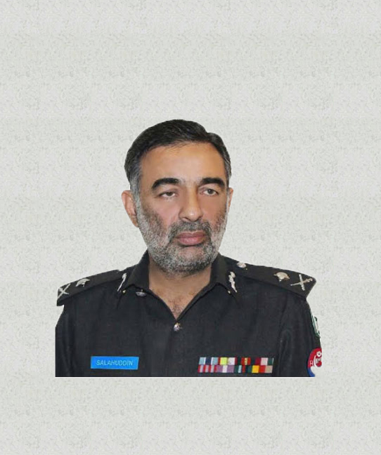 "Salahuddin Khan Mehsud<br/><p style=""font-size:14px"">Inspectors General of Police, KP</p>"