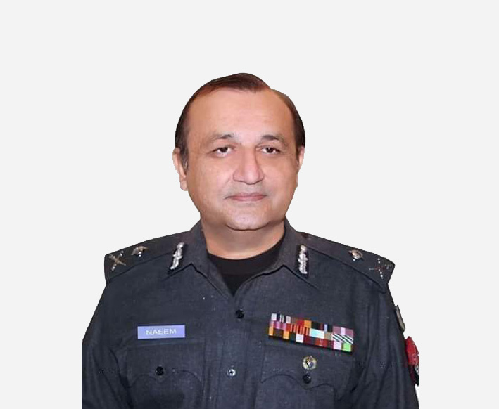 """Dr. Muhammad Naeem Khan<br/><p style=""""font-size:14px"""">Inspector General of Police, KP</p>"""